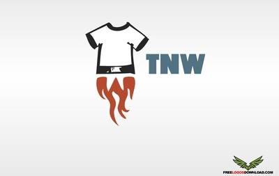 Abstract Flaming T-Shirt Apparel Logo