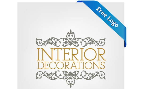 Ornamental Interior Decoration Logo Template